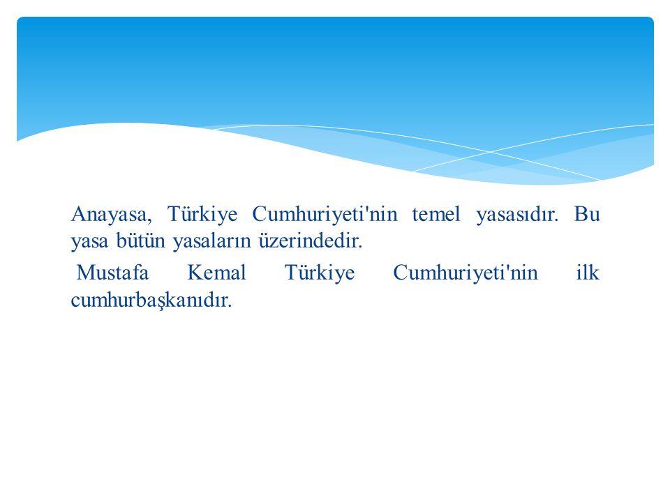 Anayasa, Türkiye Cumhuriyeti nin temel yasasıdır