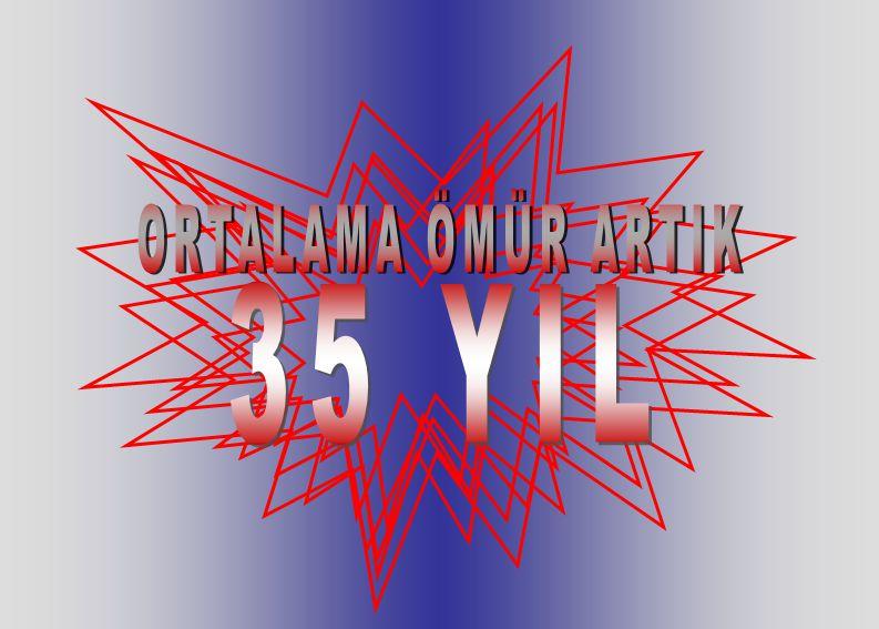 ORTALAMA ÖMÜR ARTIK 35 YIL