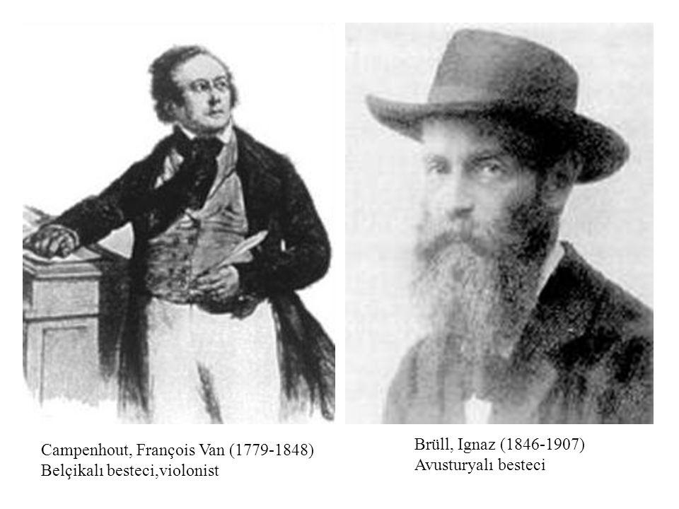Brüll, Ignaz (1846-1907) Avusturyalı besteci