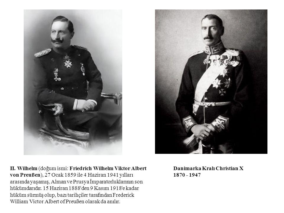 II. Wilhelm (doğum ismi: Friedrich Wilhelm Viktor Albert von Preußen), 27 Ocak 1859 ile 4 Haziran 1941 yılları arasında yaşamış, Alman ve Prusya İmparatorluklarının son hükümdarıdır. 15 Haziran 1888 den 9 Kasım 1918 e kadar hüküm sürmüş olup, bazı tarihçiler tarafından Frederick William Victor Albert of Preußen olarak da anılır.