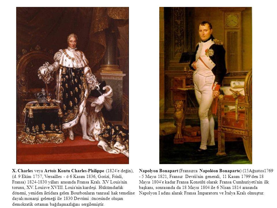 X. Charles veya Artois Kontu Charles-Philippe (1824 e değin), (d