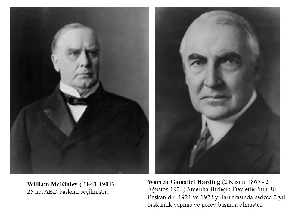 Warren Gamaliel Harding (2 Kasım 1865 - 2 Ağustos 1923) Amerika Birleşik Devletleri nin 30. Başkanıdır. 1921 ve 1923 yılları arasında sadece 2 yıl başkanlık yapmış ve görev başında ölmüştür.