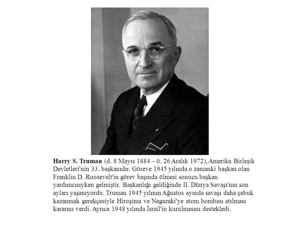 Harry S. Truman (d. 8 Mayıs 1884 – ö