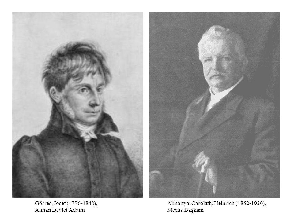 Görres, Josef (1776-1848), Alman Devlet Adamı
