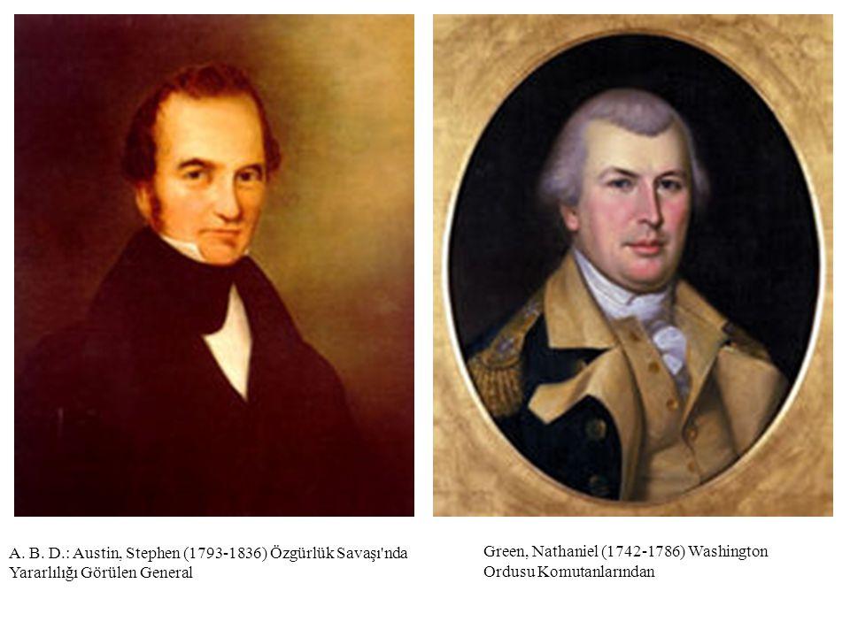 Green, Nathaniel (1742-1786) Washington Ordusu Komutanlarından