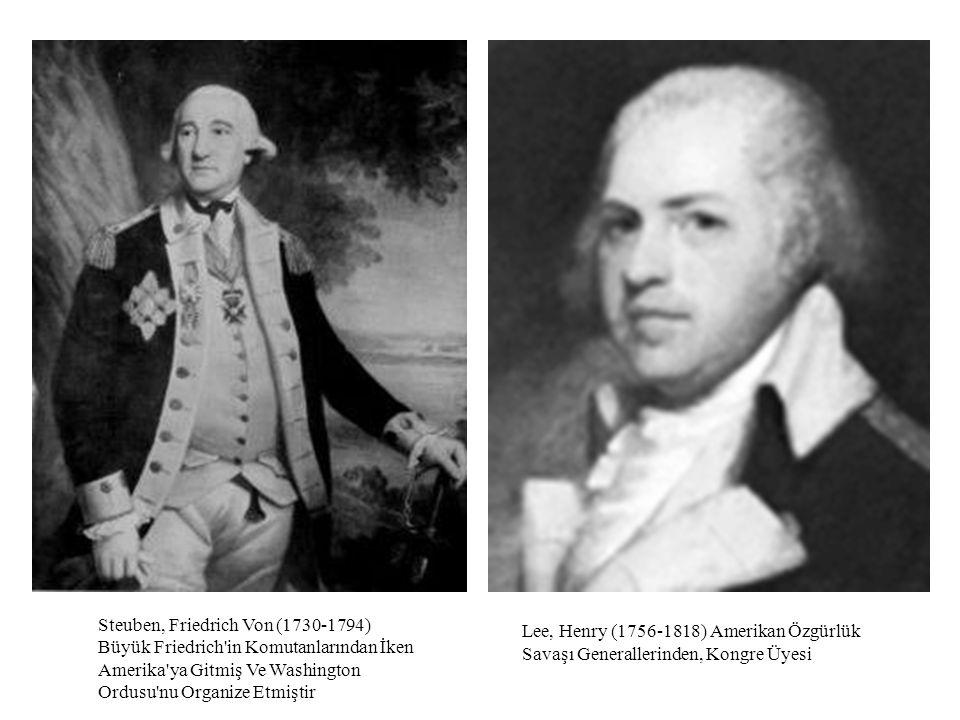 Lee, Henry (1756-1818) Amerikan Özgürlük Savaşı Generallerinden, Kongre Üyesi