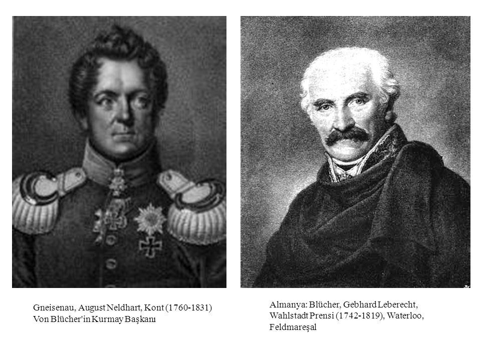 Gneisenau, August Neldhart, Kont (1760-1831) Von Blücher in Kurmay Başkanı