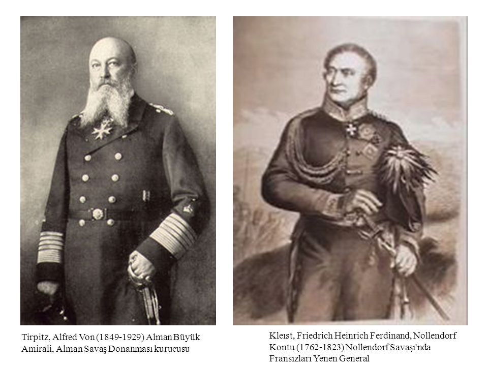 Tirpitz, Alfred Von (1849-1929) Alman Büyük Amirali, Alman Savaş Donanması kurucusu