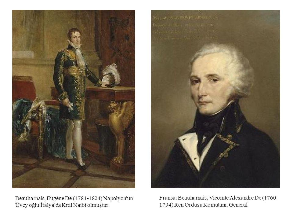 Fransa: Beauharnais, Vicomte Alexandre De (1760-1794) Ren Ordusu Komutanı, General.