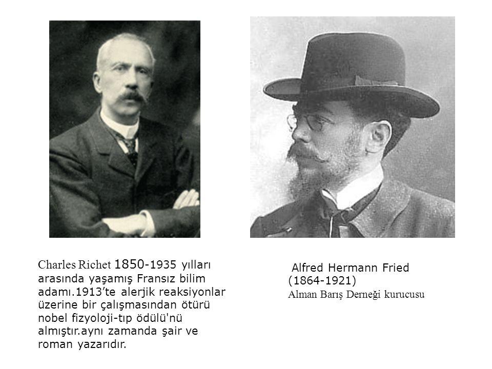 Charles Richet 1850-1935 yılları arasında yaşamış Fransız bilim adamı