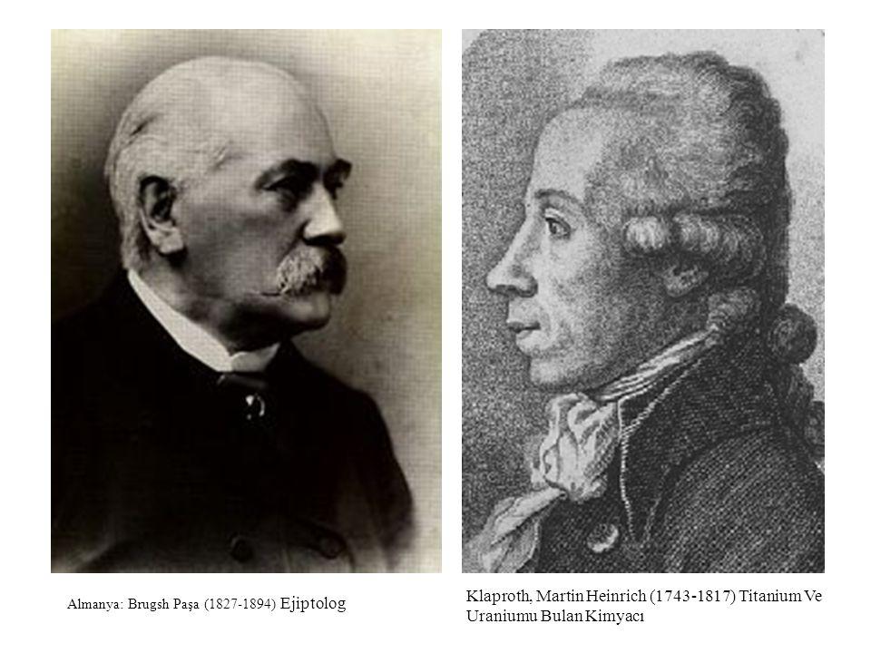Klaproth, Martin Heinrich (1743-1817) Titanium Ve Uraniumu Bulan Kimyacı