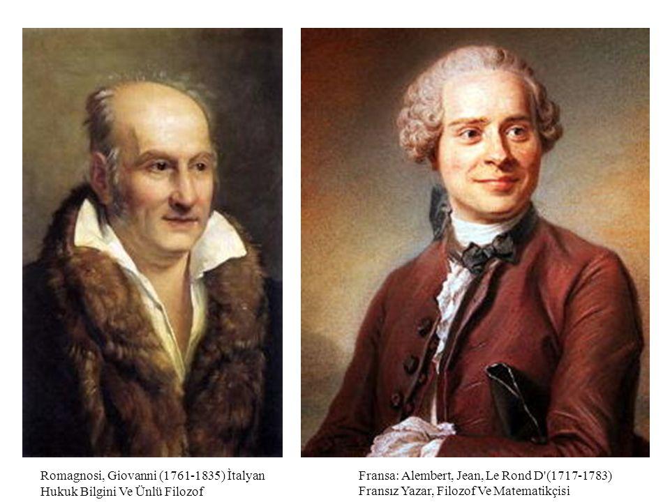 Romagnosi, Giovanni (1761-1835) Ìtalyan Hukuk Bilgini Ve Ünlü Filozof