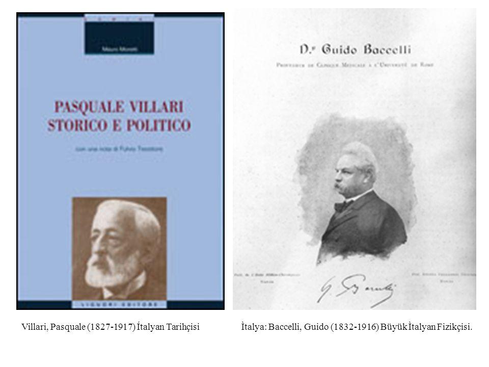 Villari, Pasquale (1827-1917) Ítalyan Tarihçisi
