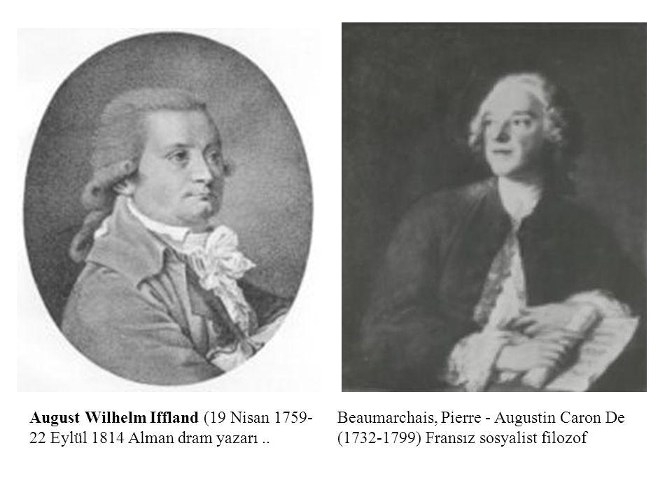 August Wilhelm Iffland (19 Nisan 1759- 22 Eylül 1814 Alman dram yazarı ..