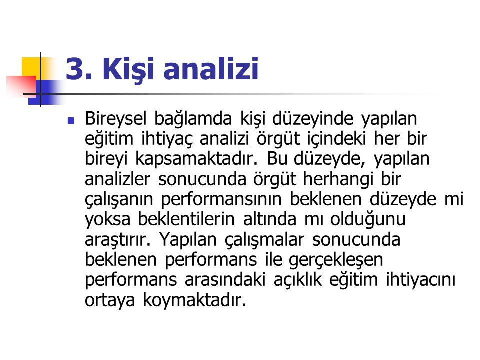 3. Kişi analizi