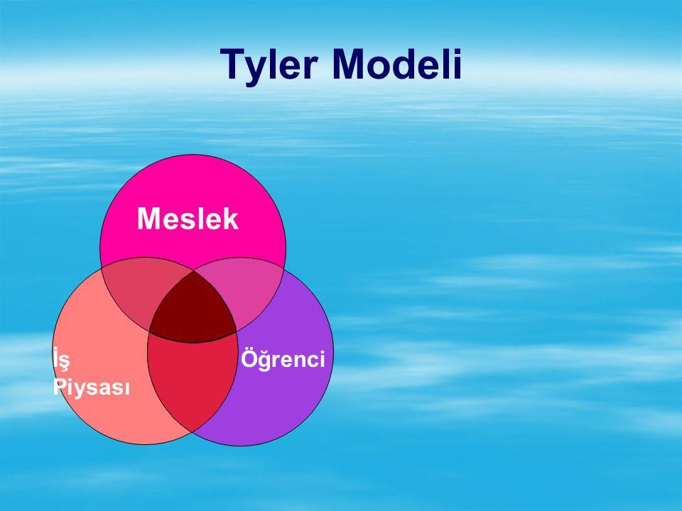 Tyler Modeli Meslek İş Piysası Öğrenci