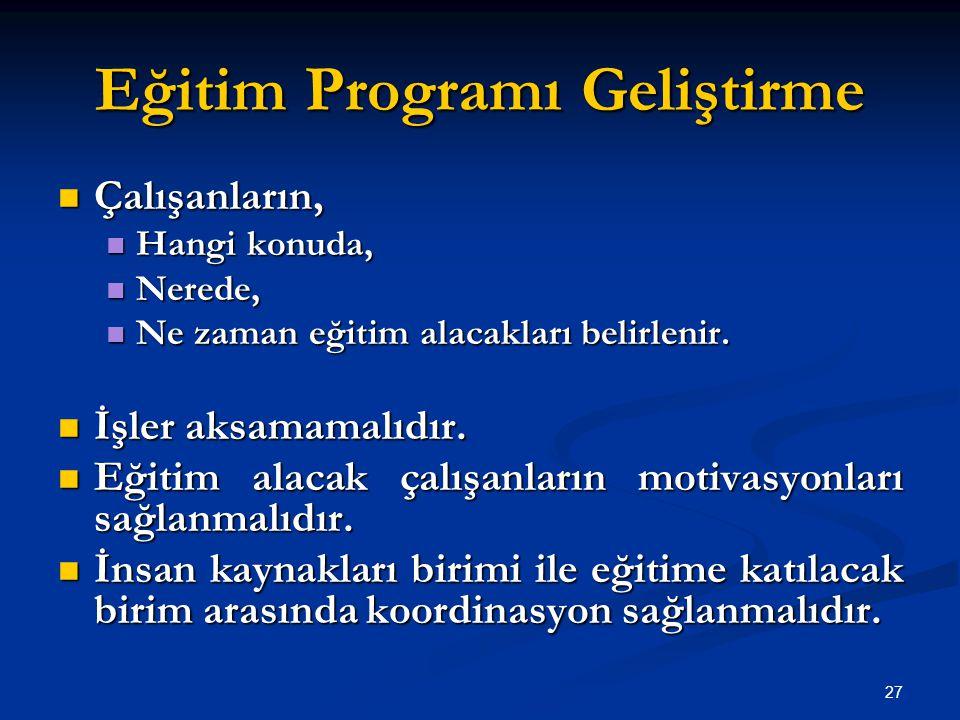 Eğitim Programı Geliştirme