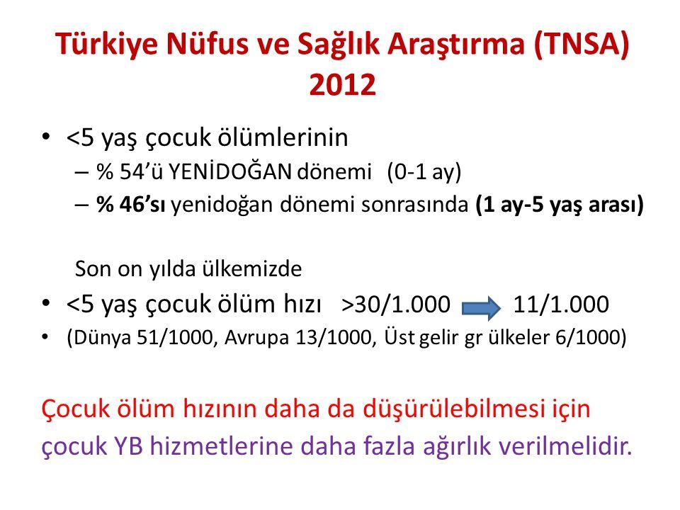 Türkiye Nüfus ve Sağlık Araştırma (TNSA) 2012