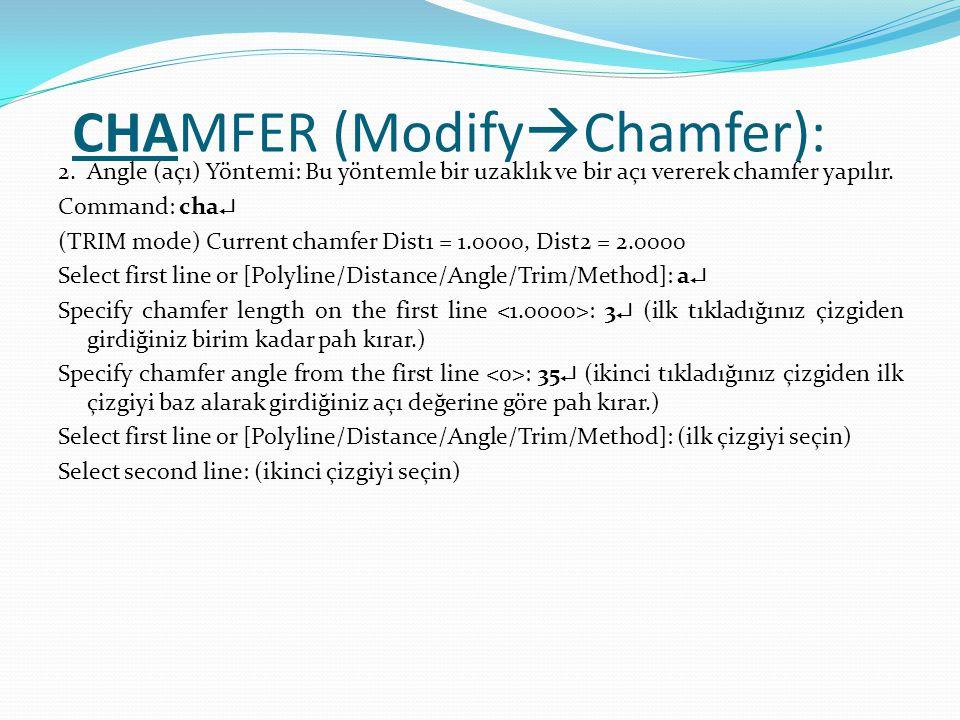 CHAMFER (ModifyChamfer):