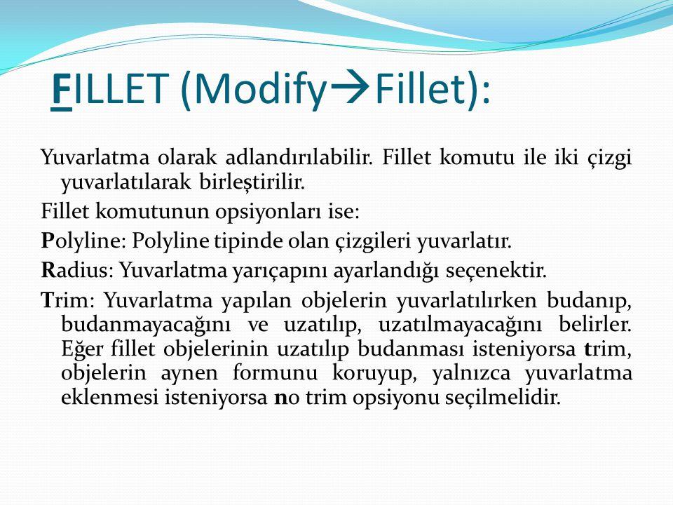 FILLET (ModifyFillet):