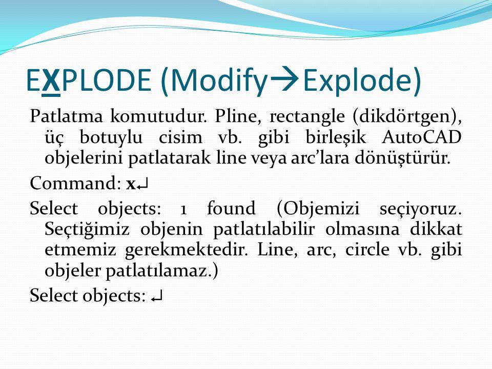 EXPLODE (ModifyExplode)