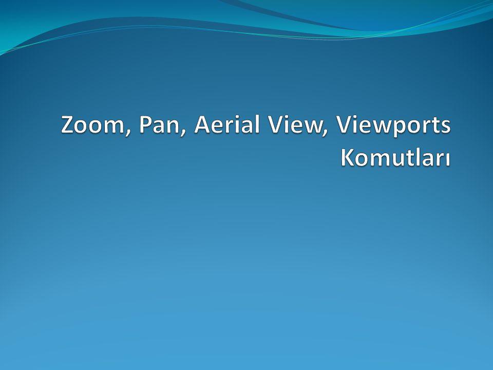Zoom, Pan, Aerial View, Viewports Komutları