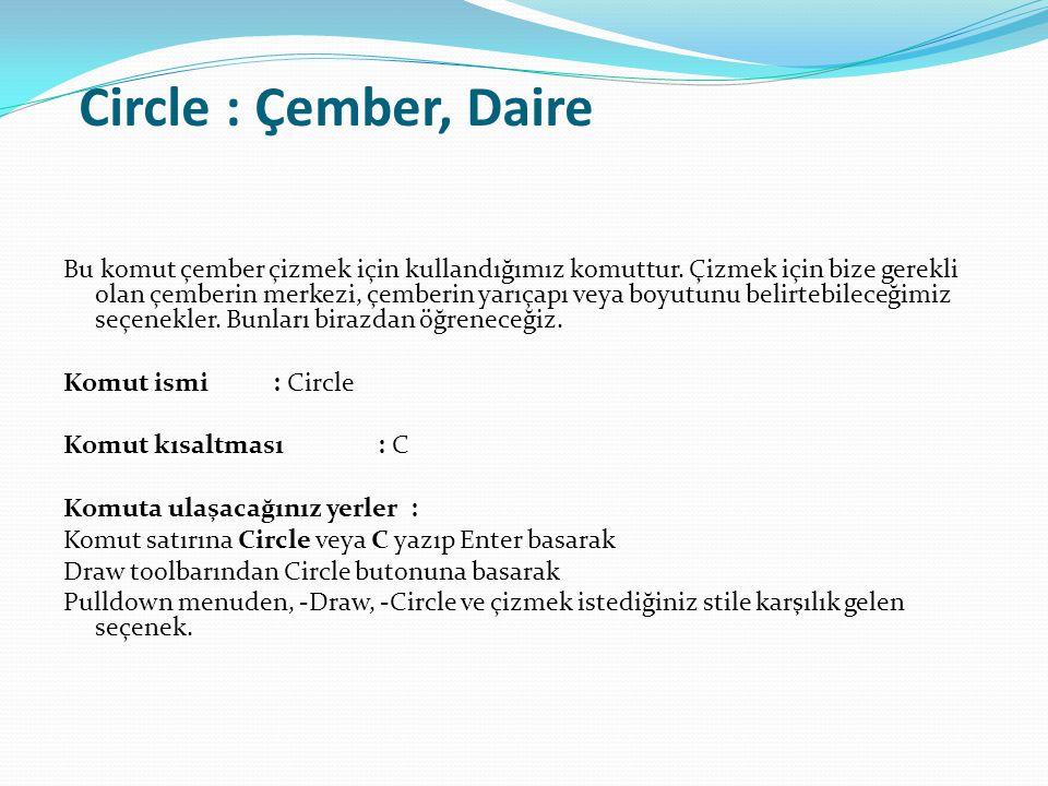 Circle : Çember, Daire