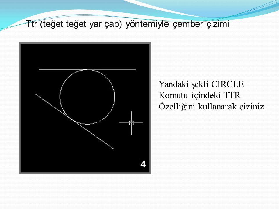 Ttr (teğet teğet yarıçap) yöntemiyle çember çizimi...