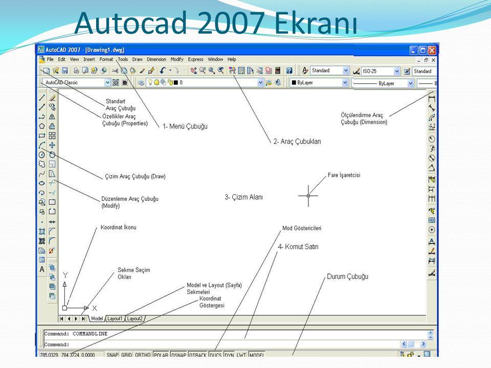 Autocad 2007 Ekranı