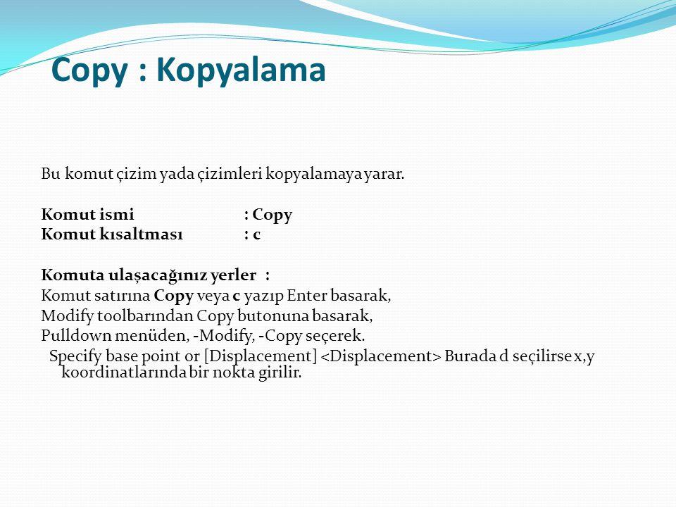 Copy : Kopyalama