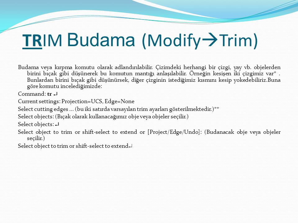 TRIM Budama (ModifyTrim)