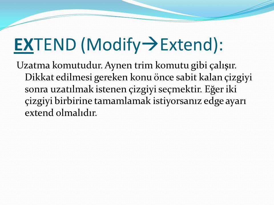 EXTEND (ModifyExtend):