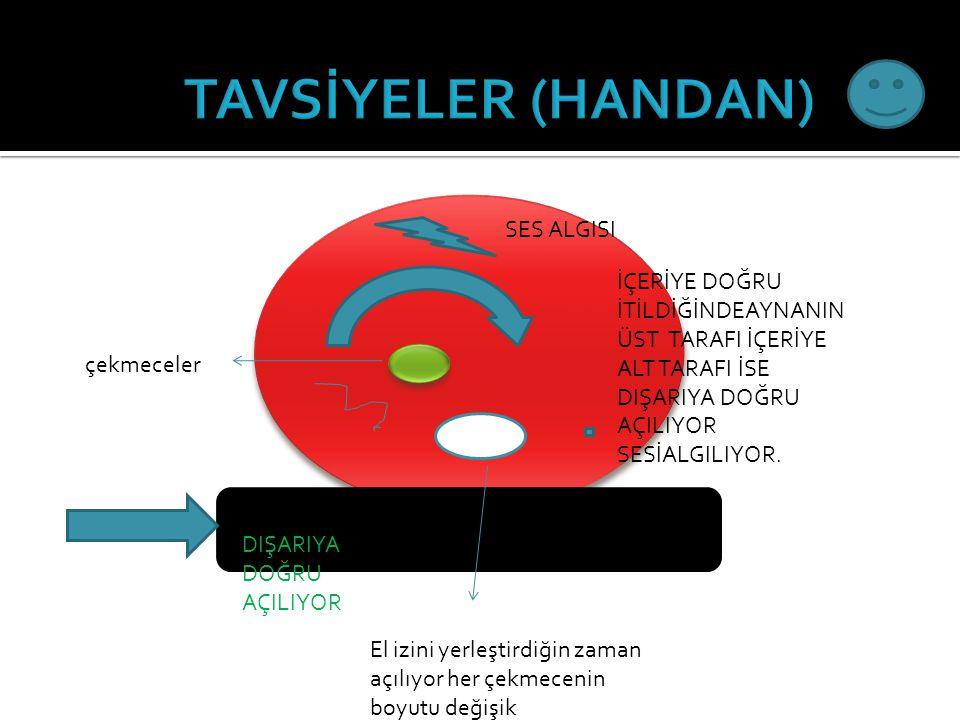 TAVSİYELER (HANDAN) SES ALGISI