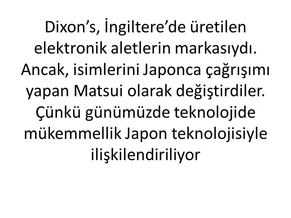 Dixon's, İngiltere'de üretilen elektronik aletlerin markasıydı