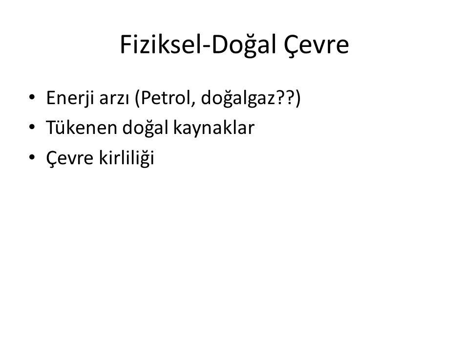Fiziksel-Doğal Çevre Enerji arzı (Petrol, doğalgaz )