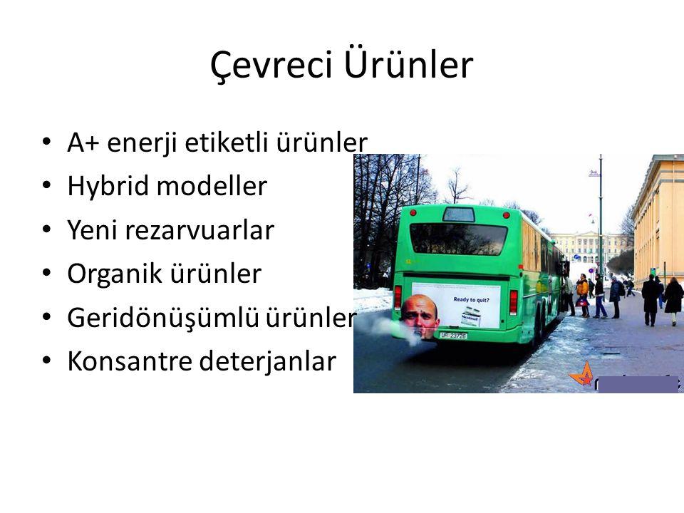 Çevreci Ürünler A+ enerji etiketli ürünler Hybrid modeller