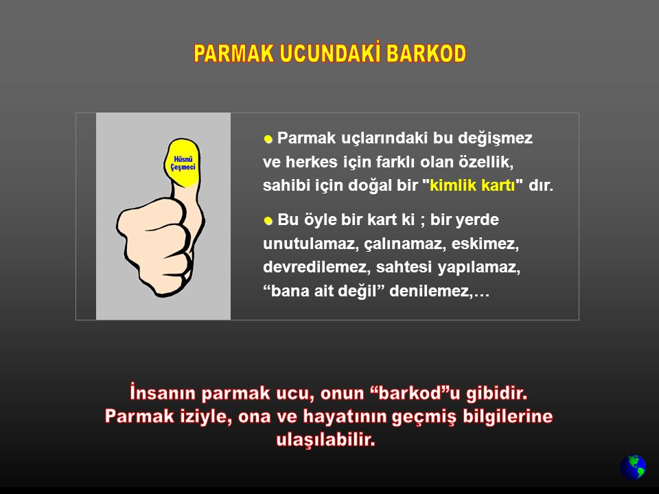 PARMAK UCUNDAKİ BARKOD