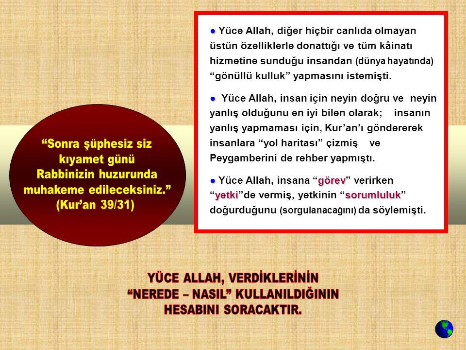 muhakeme edileceksiniz. (Kur'an 39/31)