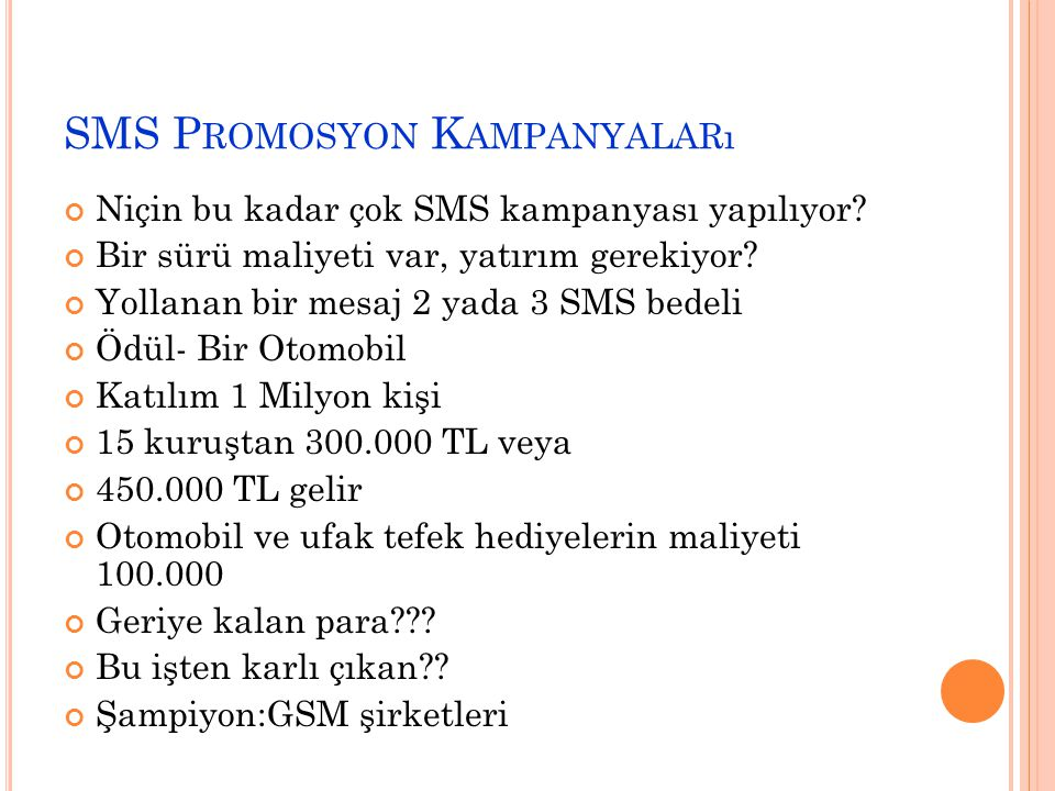 SMS Promosyon Kampanyaları