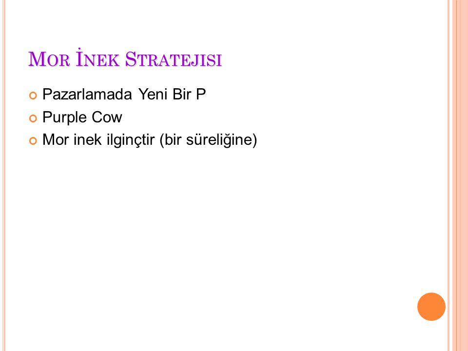 Mor İnek Stratejisi Pazarlamada Yeni Bir P Purple Cow