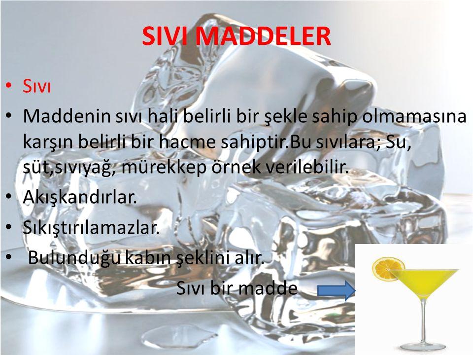 SIVI MADDELER Sıvı.