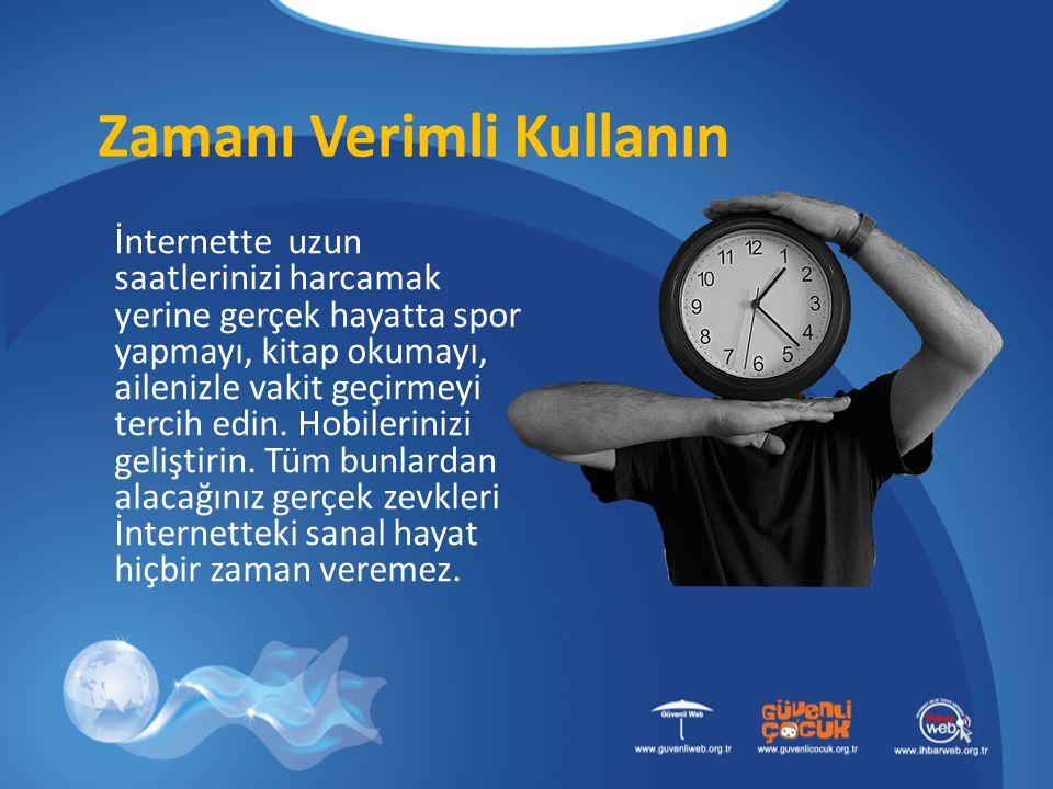 Zamanı Verimli Kullanın