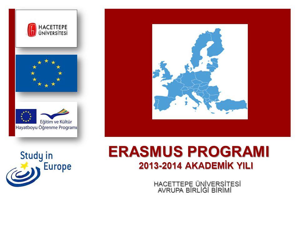 ERASMUS PROGRAMI 2013-2014 AKADEMİK YILI