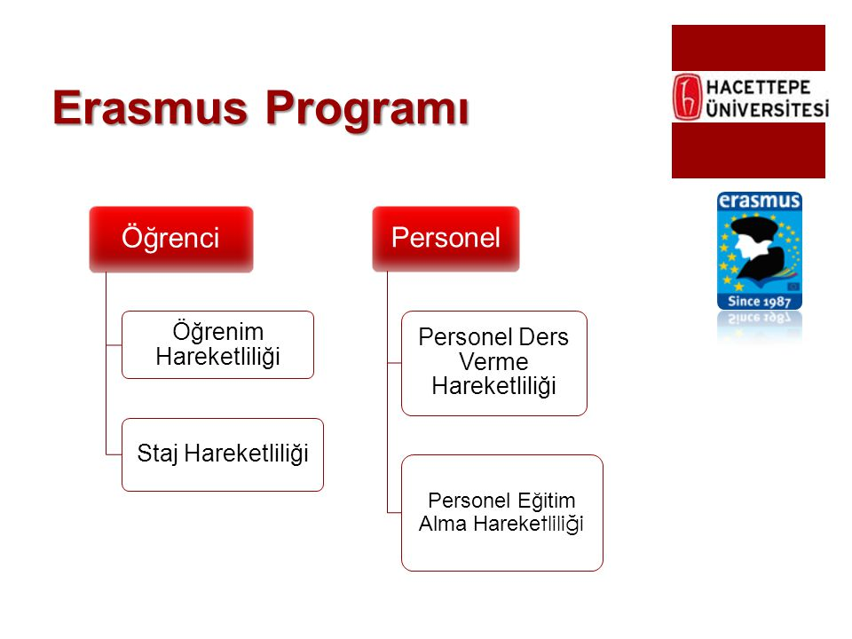 Erasmus Programı Öğrenci Personel Öğrenim Hareketliliği
