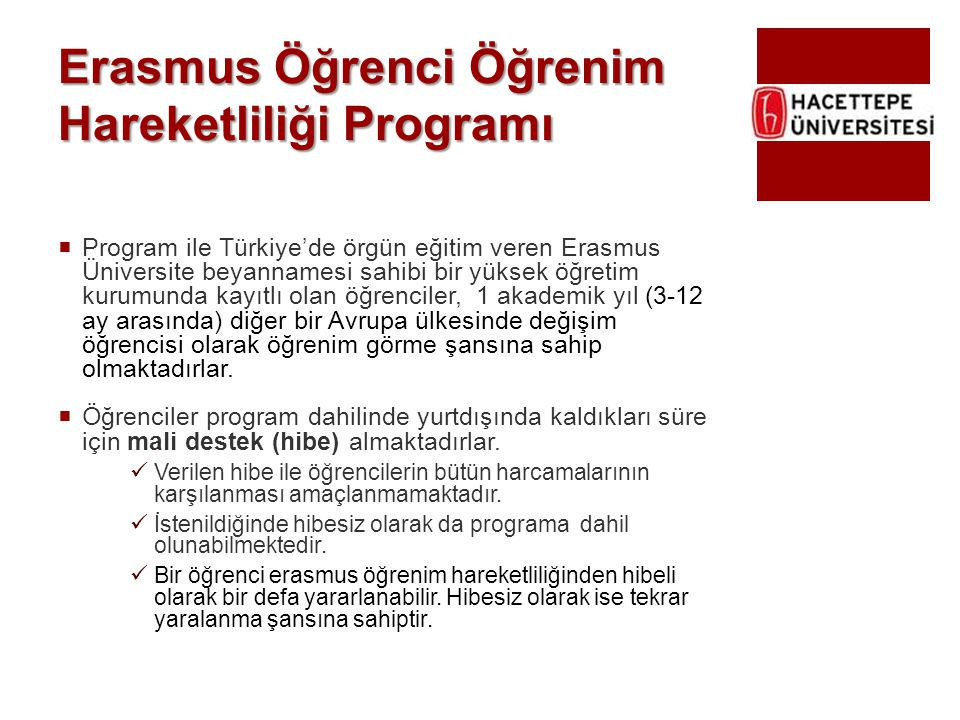 Erasmus Öğrenci Öğrenim Hareketliliği Programı