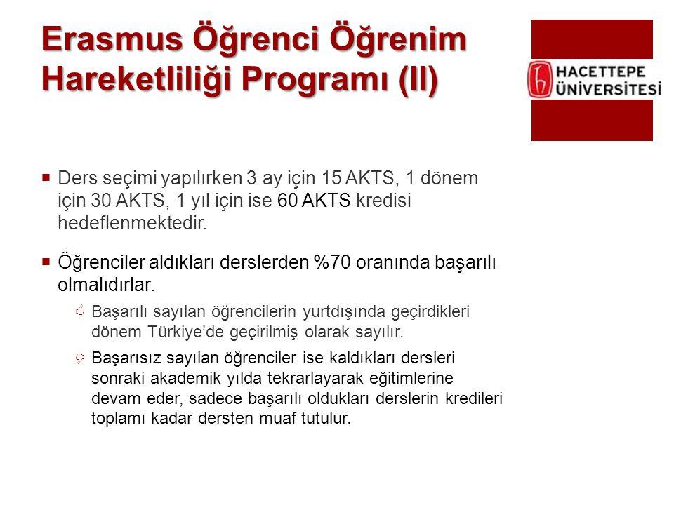 Erasmus Öğrenci Öğrenim Hareketliliği Programı (II)