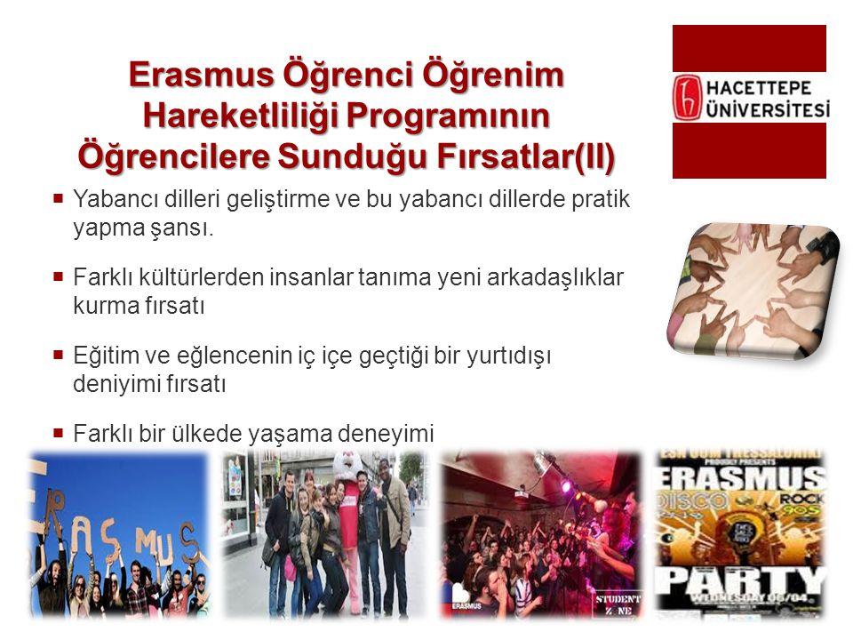 Erasmus Öğrenci Öğrenim Hareketliliği Programının Öğrencilere Sunduğu Fırsatlar(II)