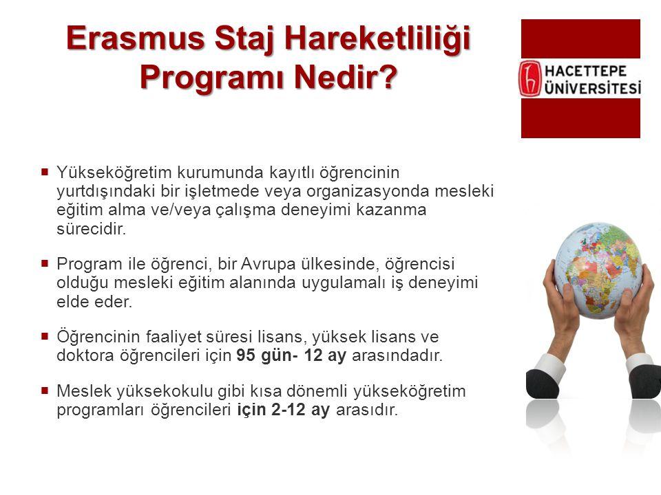 Erasmus Staj Hareketliliği Programı Nedir