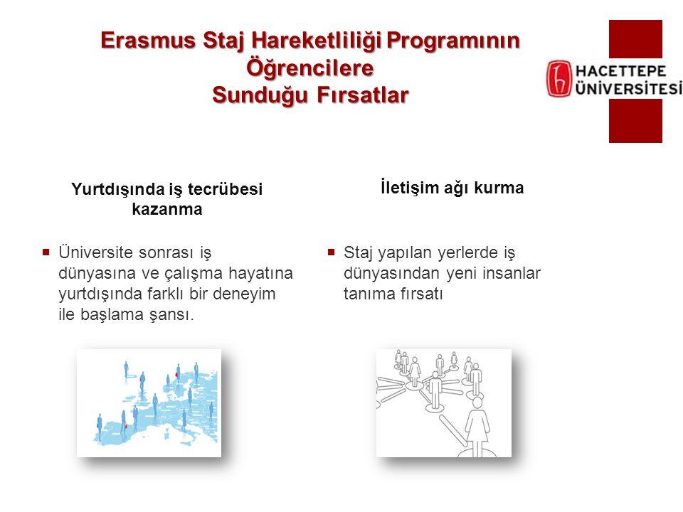 Erasmus Staj Hareketliliği Programının Öğrencilere Sunduğu Fırsatlar