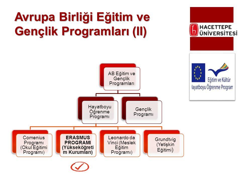 Avrupa Birliği Eğitim ve Gençlik Programları (II)